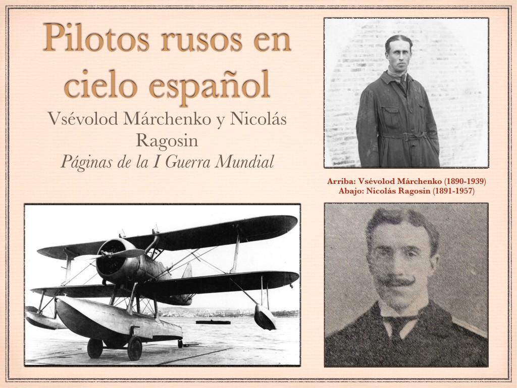 Pilotos rusos en cielo español