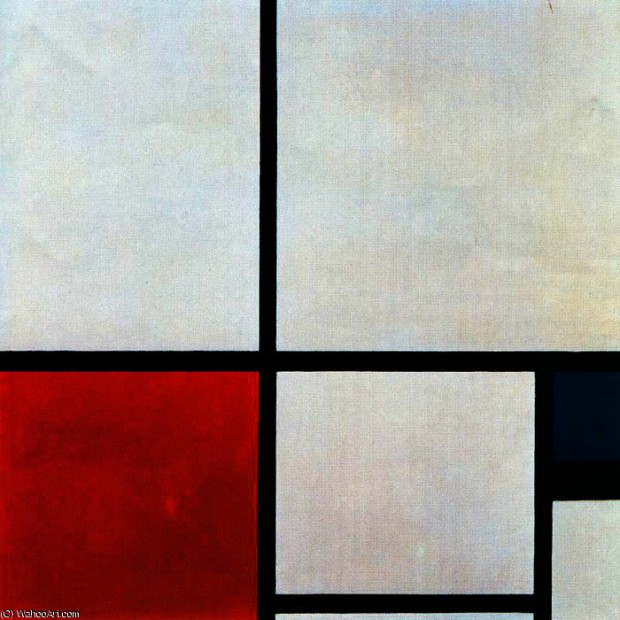 PietMondrian-CompositionN_1withRedandBlue